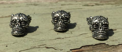 Schmuckatelli Aquilo Sugar Skull in Pewter - Set of 3 by Stockstill Outdoor Supply