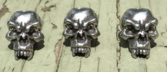 Schmuckatelli Fang Skull Bead Set of 3 - Pewter by Stockstill Outdoor Supply