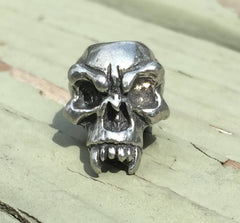 Schmuckatelli Fang Skull Bead - Pewter by Stockstill Outdoor Supply