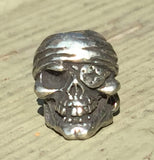 Schmuckatelli One-Eyed Jack Skull Bead - Pewter by Stockstill Outdoor Supply