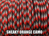 Sneaky Orange Camo Type III 550 Paracord by Stockstill Outdoor Supply