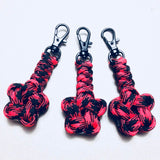 Five Pointed Star Knot Paracord Zipper Pulls by Opossum's Paracord - Stockstill Outdoor Supply - Black Widow / Black