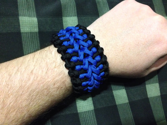 The Legacy Cuff by Opossum's Paracord - Stockstill Outdoor Supply Blue & Black