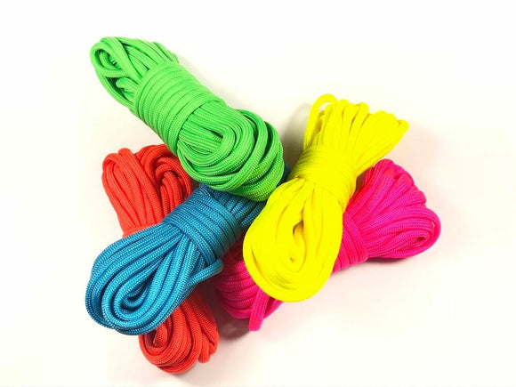 Type III 550 Paracord - Neon Solids by Stockstill Outdoor Supply