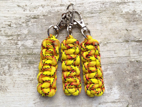 Custom Paracord Zipper Pulls - Explode w/Chrome Swivel Hooks by Stockstill Outdoor