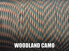 Woodland Camo Type III 550 Paracord by Stockstill Outdoor Supply