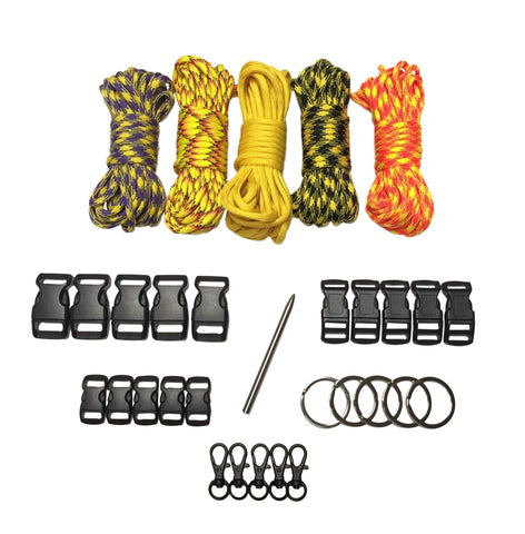 100 ft Yellow Fever Paracord Kit XXL by Stockstill Outdoor Supply