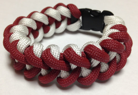 Crimson & White Paracord Bracelet