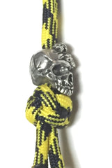 Custom Schmuckatelli Knife Lanyard by Stockstill Outdoor Supply - Mind Skull Pewter Left