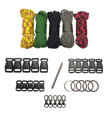 100 ft Base Black 2 Paracord Kit XXL by Stockstill Outdoor Supply