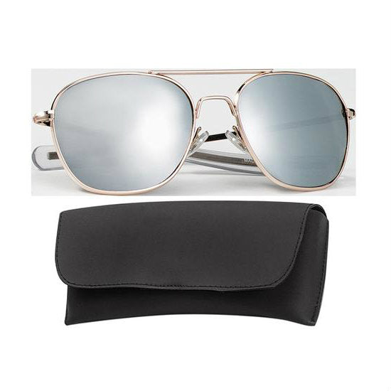 Gold Mirror Lens 58MM Sunglasses