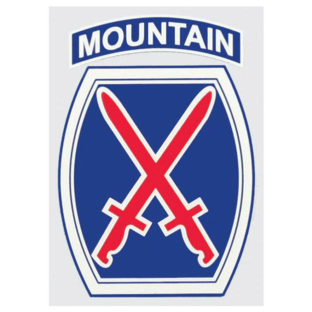 10th Mountain Division Decal - Indy Army Navy