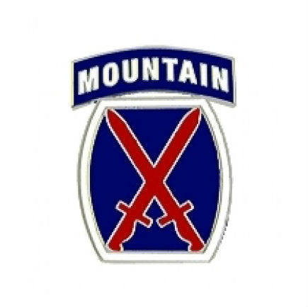 10th Mountain Division Hat Pin (1 Inch)