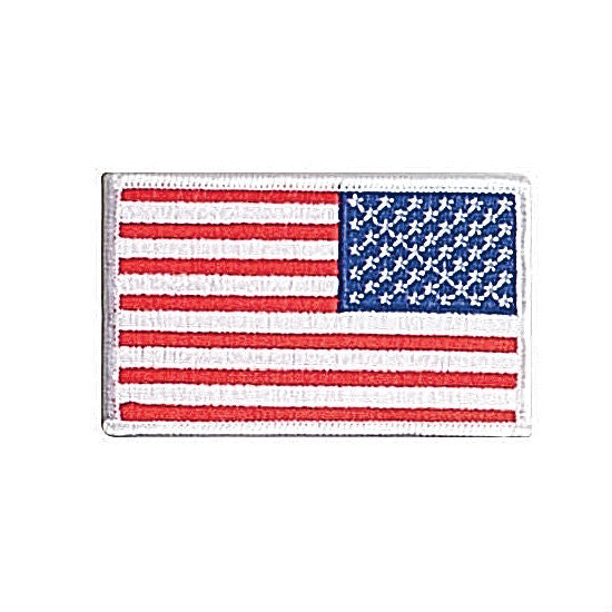 Reverse White Border Flag Patch