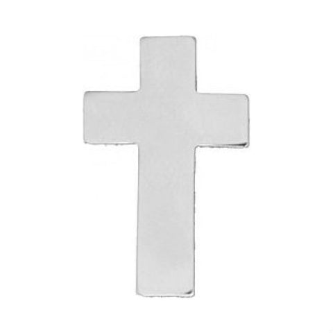 Silver Chaplain's Cross Hat Pin (1 Inch)