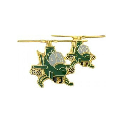 2 Cobra Helicopter Formation Hat Pin (1 1/2 Inch) - Indy Army Navy