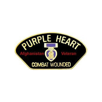 Afghanistan Purple Heart Hat Pin (1 1/8 Inch)