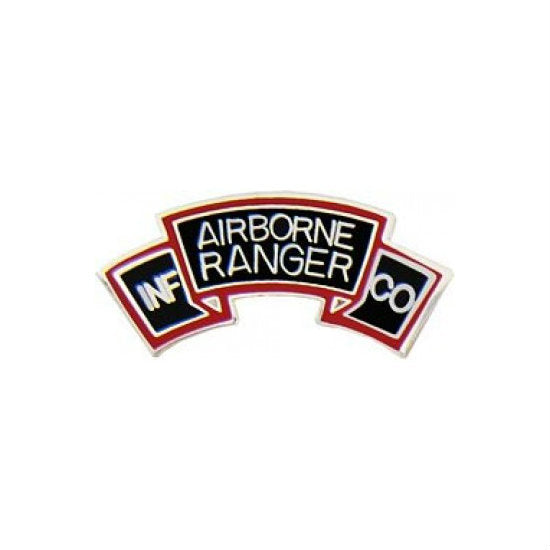 Airborne Rangers Scroll Hat Pin (1 Inch)