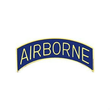 Blue Airborne Tab Hat Pin (1 1/4 Inch)