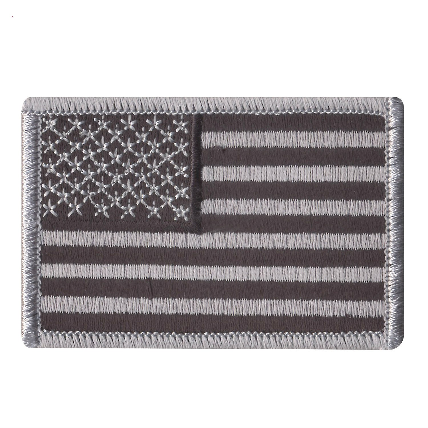 Black / Grey American Flag Patch