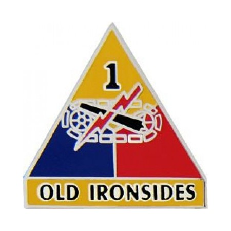 "1st Armored Division ""Old Ironsides"" Hat Pin (1 Inch)"