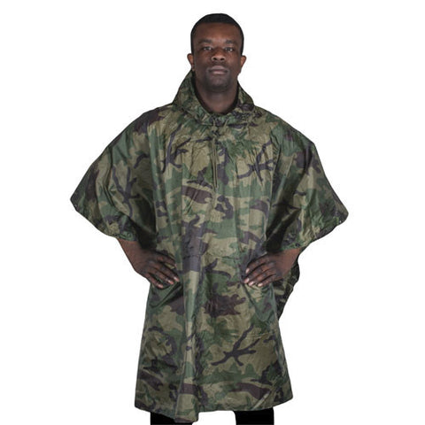 Camouflage Ripstop Poncho