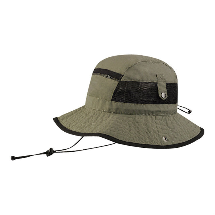Juniper Taslon UV Pocket Bucket Hat Olive
