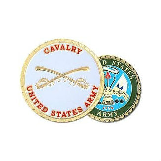 Army Calvary Challenge Coin