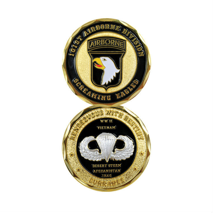 101st Airborne Challenge Coin - Indy Army Navy