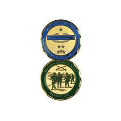 Combat Infantryman Challenge Coin - Indy Army Navy