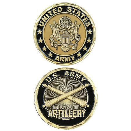 Army Artillery Challenge Coin