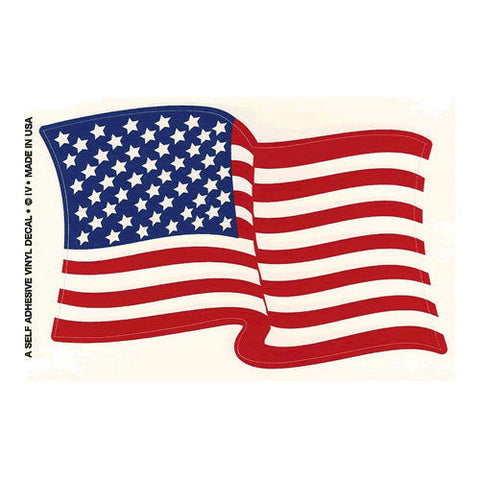 US Wavy Flag Decal