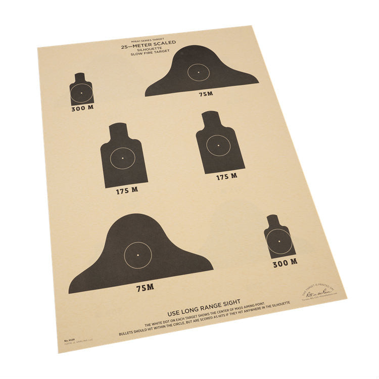 Rite in the Rain 25M Silhouette Slow Fire Target