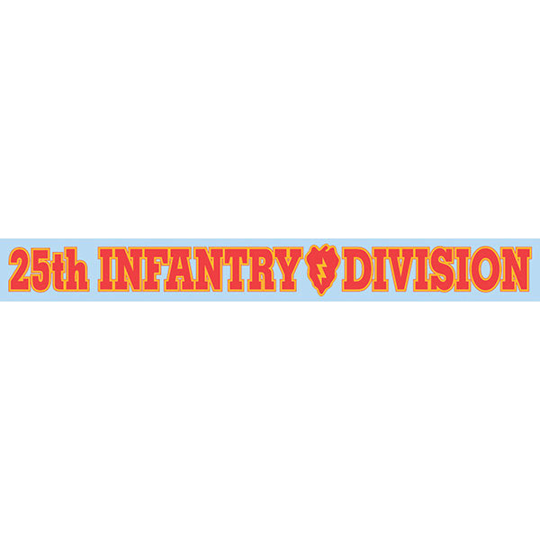 25th Infantry Window Strip Decal