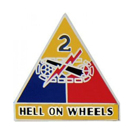 2nd Armored Division Hat Pin (1 Inch)