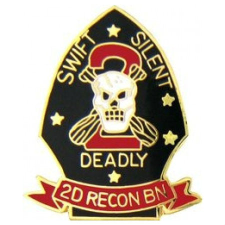 2nd Marine Recon Division Hat Pin (1 Inch)