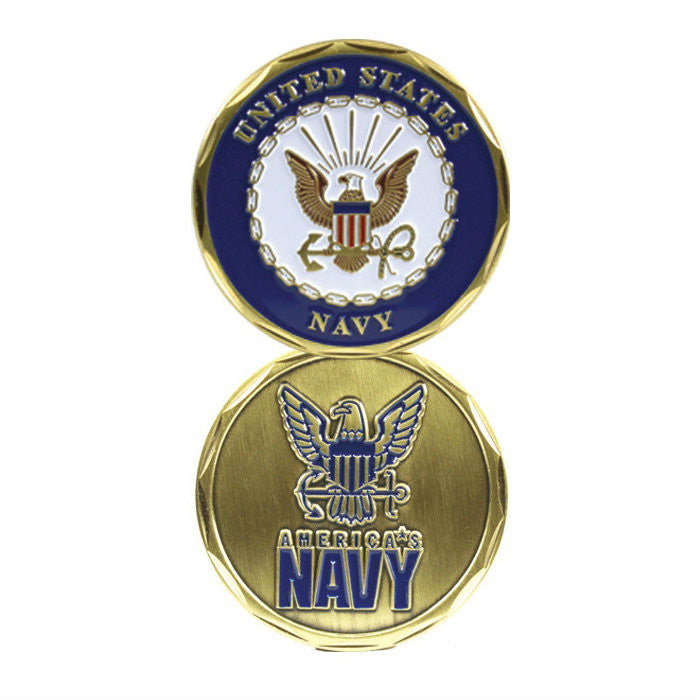 Navy Seal - Navy Logo Challenge Coin - Indy Army Navy