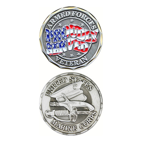 Marines Proudly Served Challenge Coin