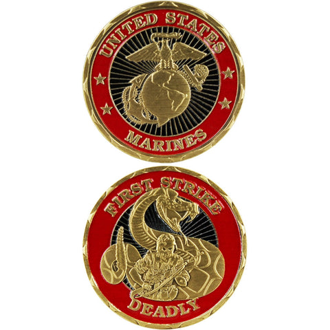 Marines First Strike Deadly Challenge Coin