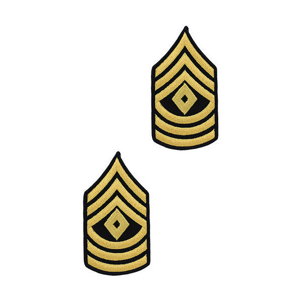 Army Male Gold / Blue 1st Sergeant Chevron (1 Pair)