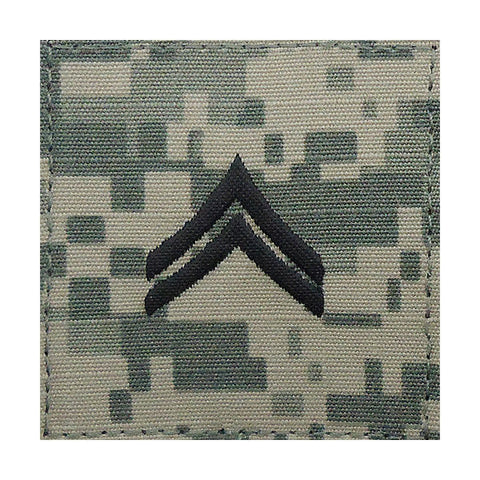 Army ACU Corporal Hook & Loop Rank
