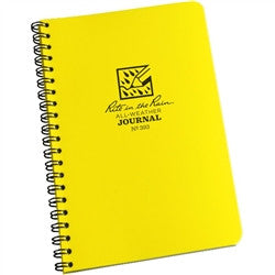 Rite in the Rain All Weather Journal Spiral Notebook Yellow