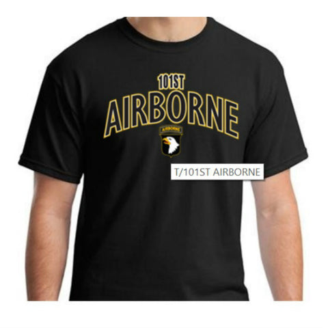 101st Airborne T-Shirt Black - Indy Army Navy