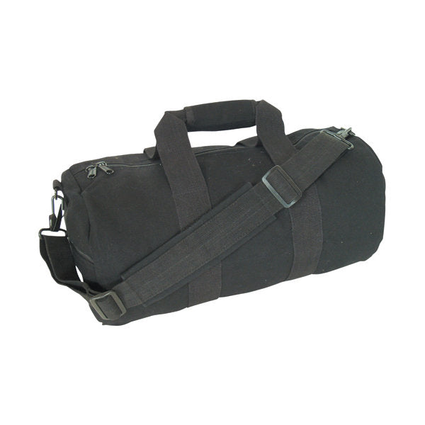 "Canvas Roll Gear Bag Black 12"" x 24"""