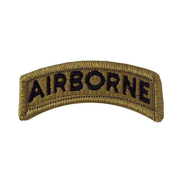 Army Airborne OCP Hook & Loop Tab Patch