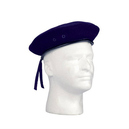 Navy Blue Wool Beret - Indy Army Navy