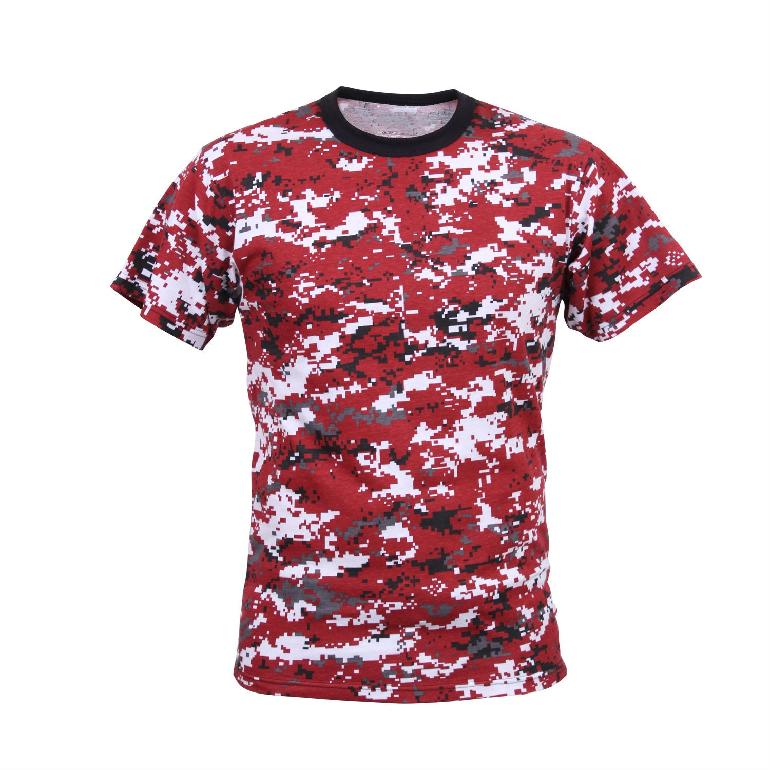 Digital Red Camouflage T-Shirt