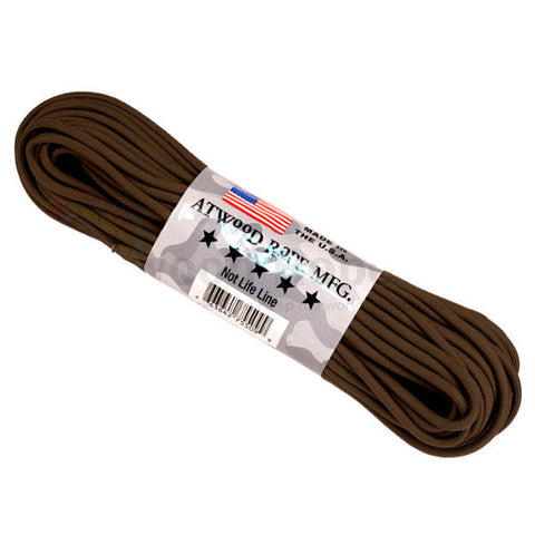 100Ft 550 Paracord Brown