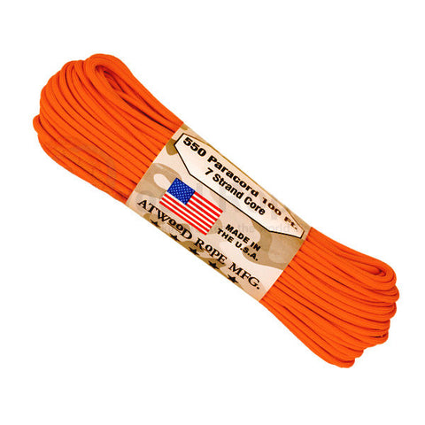 100Ft 550 Paracord Burnt Orange - Indy Army Navy