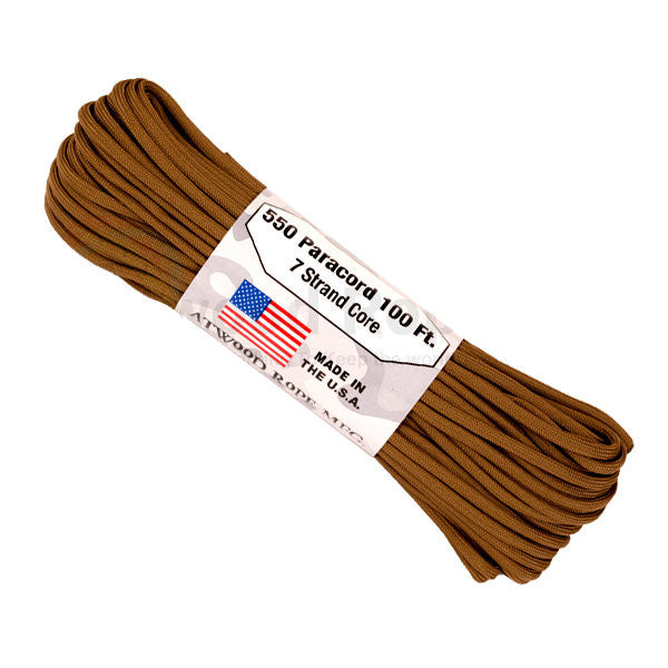 100Ft 550 Paracord Coyote - Indy Army Navy